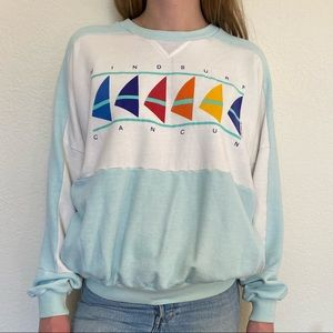 Vintage 1980's Cancun Mexico Windsurf Sweatshirt